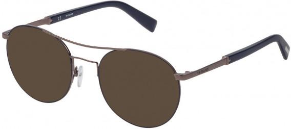 Trussardi VTR356 sunglasses in Shiny Ruthenium/Coloured