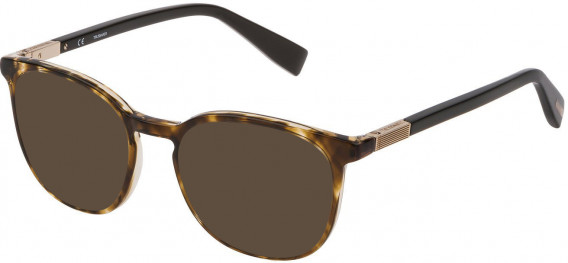 Trussardi VTR355 sunglasses in Shiny Melange Brown