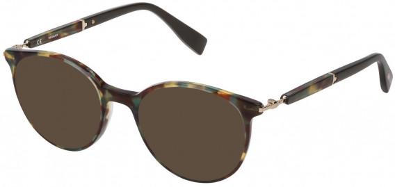 Trussardi VTR351 sunglasses in Shiny Green Havana