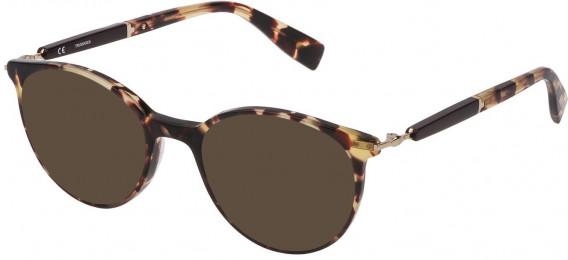 Trussardi VTR351 sunglasses in Shiny Classic Havana