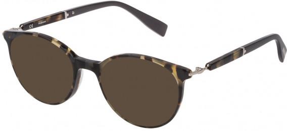 Trussardi VTR351 sunglasses in Pattern Light Havana-Grey