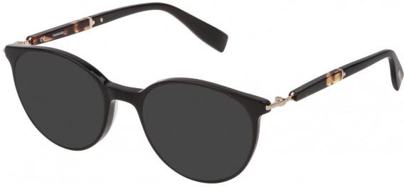 Trussardi VTR351 sunglasses in Shiny Black