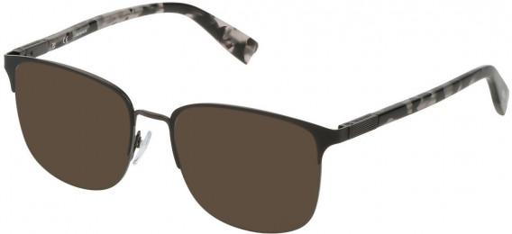 Trussardi VTR311 sunglasses in Gun/Matt Black