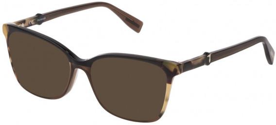 Trussardi VTR309 sunglasses in Shiny Havana/Black