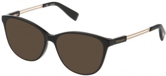 Trussardi VTR307 sunglasses in Shiny Black