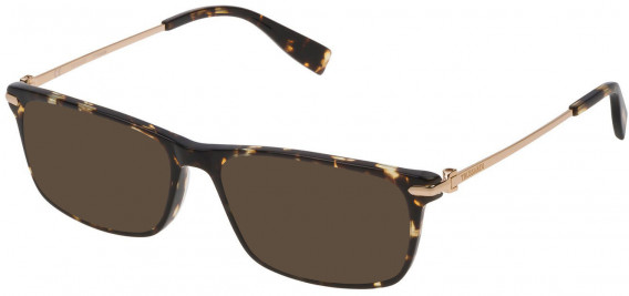 Trussardi VTR249 sunglasses in Shiny Havana Honey Tatoo