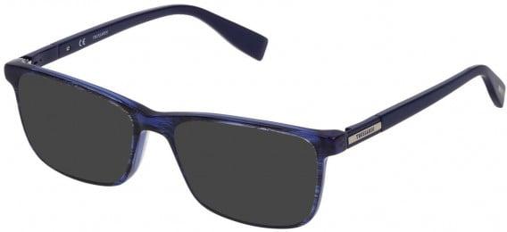 Trussardi VTR242 sunglasses in Striped Bicolor Blue