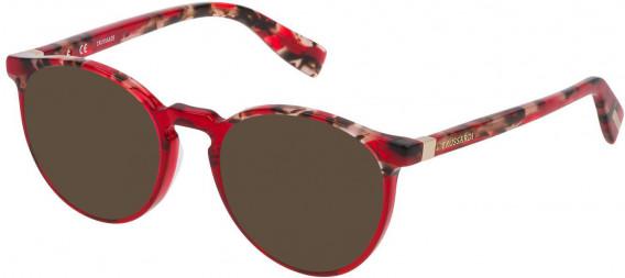 Trussardi VTR235 sunglasses in Pattern Black Yellow Red
