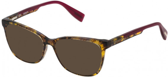 Trussardi VTR158N sunglasses in Shiny Brown-Yellow Havana