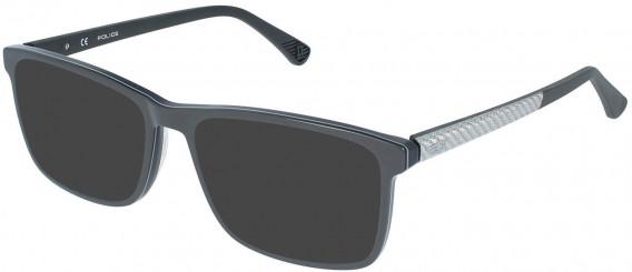 Police VPL959 sunglasses in Shiny Grey/Black