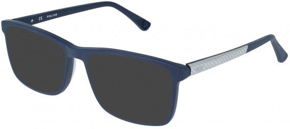Police VPL959 sunglasses in Full Blue