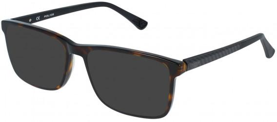 Police VPL959 sunglasses in Shiny Dark Havana