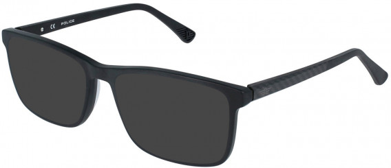 Police VPL959 sunglasses in Matt/Sandblasted Black