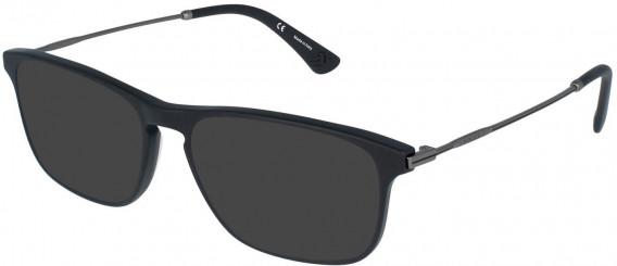 Police VPL956 sunglasses in Matt/Sandblasted Black