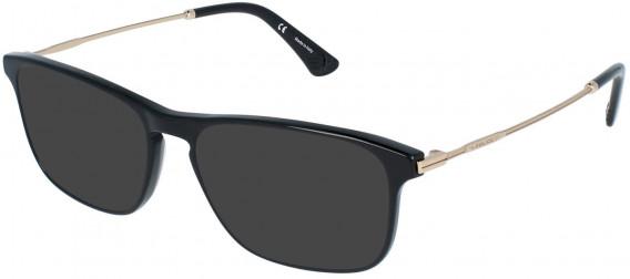 Police VPL956 sunglasses in Shiny Black