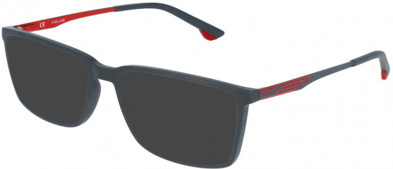 Police VPL949 sunglasses in Full Matt Grey