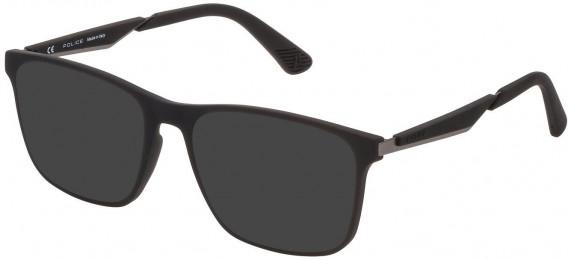 Police VPL888 sunglasses in Rubberized Black