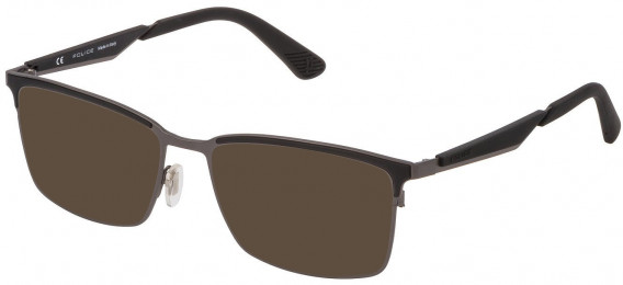 Police VPL887 sunglasses in Matt Gun Metal