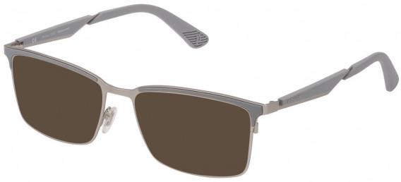 Police VPL887 sunglasses in Matt Palladium