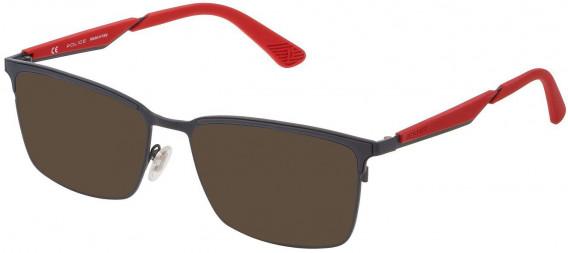 Police VPL887 sunglasses in Matt Full Gray