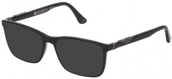 Police VPL886 sunglasses in Shiny Black