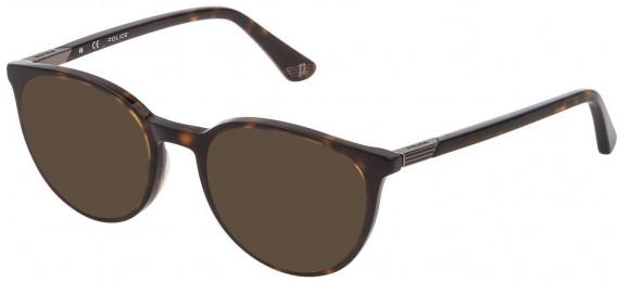 Police VPL883 sunglasses in Shiny Dark Havana