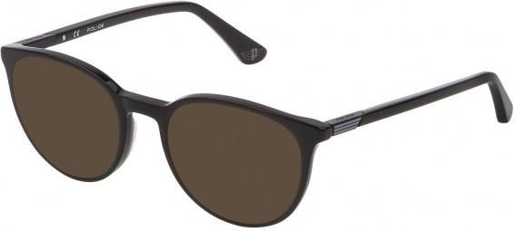 Police VPL883 sunglasses in Shiny Black