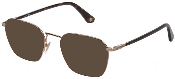 Police VPL882 sunglasses in Shiny Grey Gold/Havana