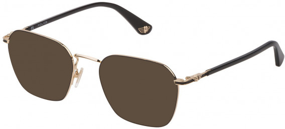 Police VPL882 sunglasses in Shiny Rose Gold/Black