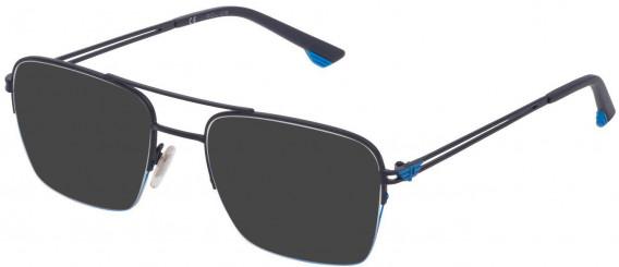 Police VPL879 sunglasses in Semi Matt Blue