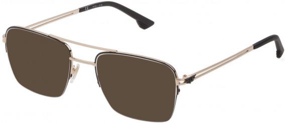 Police VPL879 sunglasses in Shiny Rose Gold/Black