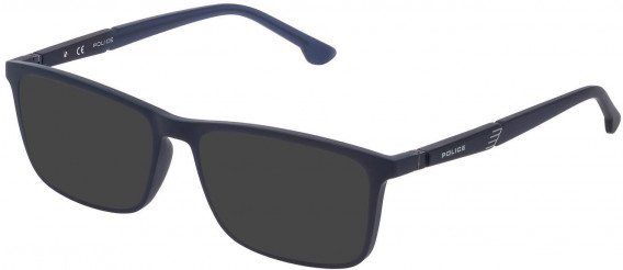 Police VPL877 sunglasses in Matt Night Blue