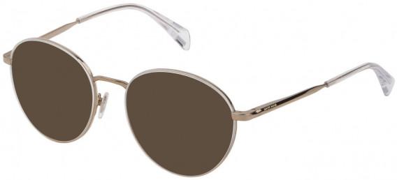 Police VPL838 sunglasses in Shiny Grey Gold/Matt Black