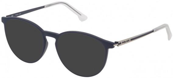 Police VPL800 sunglasses in Full Blue
