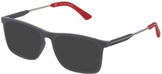 Police VPL797 sunglasses in Rubberized Grey