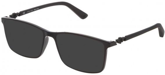 Police VPL796 sunglasses in Shiny Black