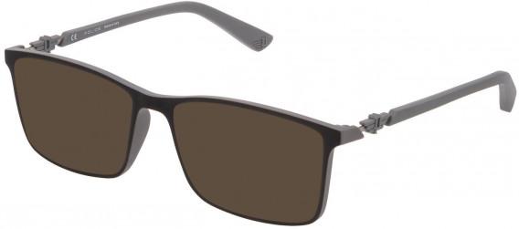 Police VPL796 sunglasses in Black/Rubberized Grey