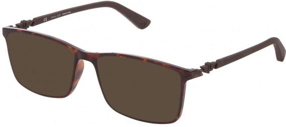 Police VPL796 sunglasses in Shiny Dark Havana