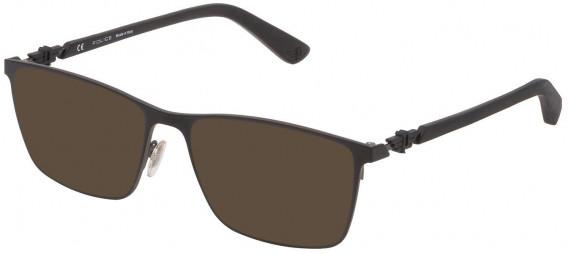 Police VPL795 sunglasses in Semi Matt Black/Semi Matt Gun