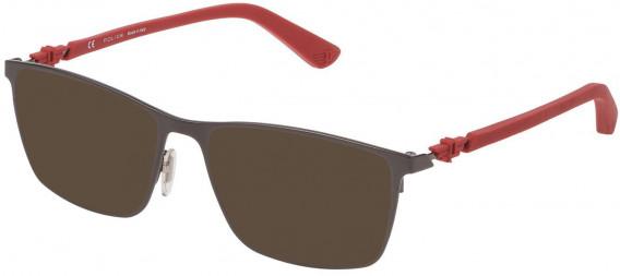 Police VPL795 sunglasses in Gun/Red