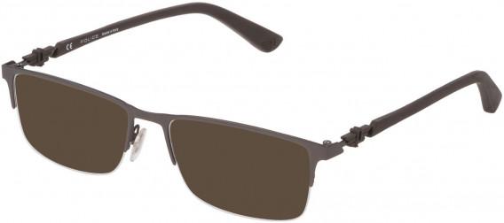 Police VPL794 sunglasses in Matt Brown/Matt Gun Metal