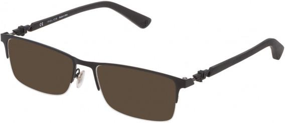 Police VPL794 sunglasses in Semi Matt Black