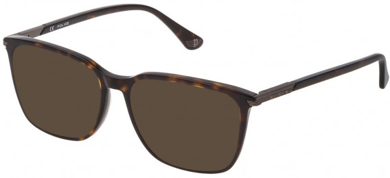Police VPL792N sunglasses in Shiny Dark Havana