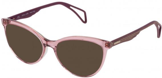 Police VPL735 sunglasses in Shiny Pink/Grey
