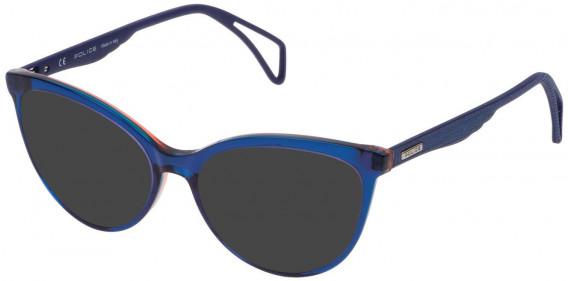 Police VPL735 sunglasses in Blue/Azure/Orange