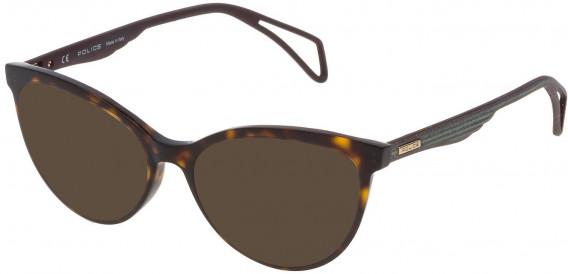 Police VPL735 sunglasses in Shiny Dark Havana