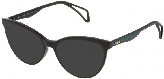 Police VPL735 sunglasses in Shiny Black
