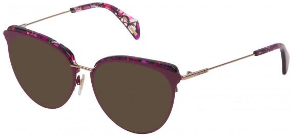 Police VPL734 sunglasses in Shiny Full Bordeaux/Grey Gold