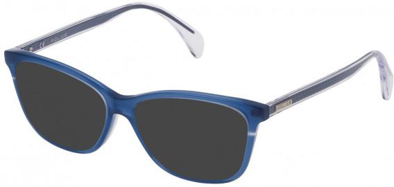 Police VPL733 sunglasses in Shiny Opal Blue