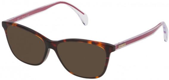 Police VPL733 sunglasses in Shiny Classic Havana